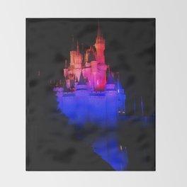Night Castle Throw Blanket