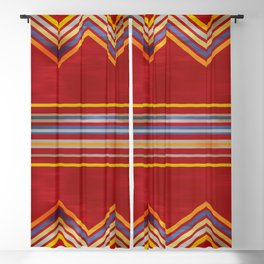 Stripes and Chevrons Ethic Pattern Blackout Curtain