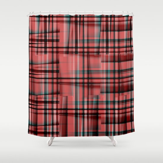 Pattern red 1 Shower Curtain