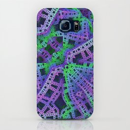 Green and purple film ribbons iPhone Case