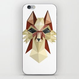 Flat Fox iPhone Skin