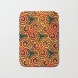 orange round abstract Bath Mat