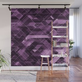 Abstract violet pattern Wall Mural