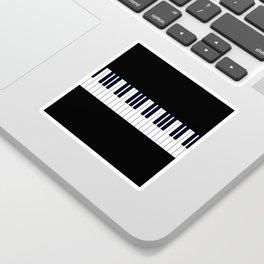 Piano Keys - Black and white simple piano keys pattern minimalistic music themed artwork Sticker