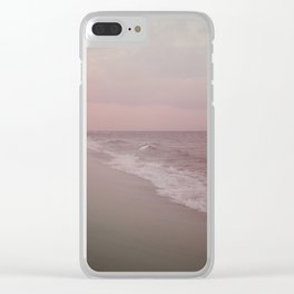 Girl On The Beach Clear iPhone Case