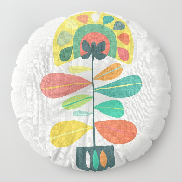 Fan Flower Floor Pillow