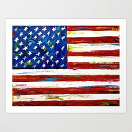 united states painting Art Print