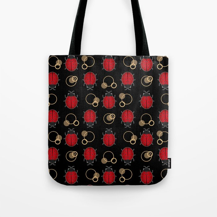 Cheerful ladybugs . Tote Bag