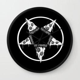 Pizzagram (Monochrome) Wall Clock