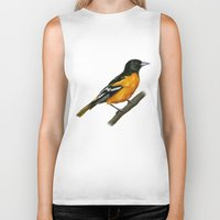 baltimore Biker Tanks featuring Baltimore oriole  by Science Ink