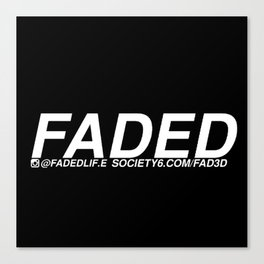 FADED AD Canvas Print