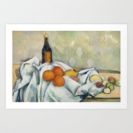 Bottle and Fruits (Bouteille et fruits) (ca. 1890) by Paul Cézanne. Art Print