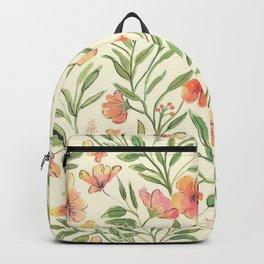 Watercolor Botanical Pattern Backpack