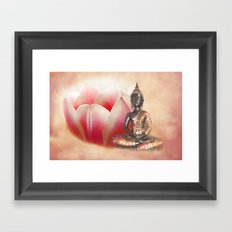 In the land of quiet thought - Buddha Framed Art Print