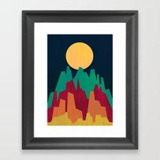 Rocky Landscape Framed Art Print