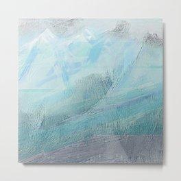 Blue Distant Peaks Metal Print