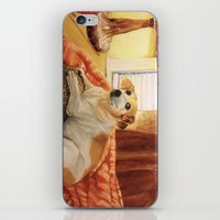 jack russell iPhone & iPod Skins featuring Jack Russell by Good Artitude