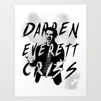 darren criss Art Prints featuring Darren Criss by kltj11