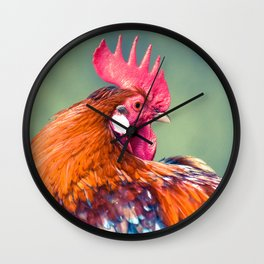 Colorful Rooster Wall Clock