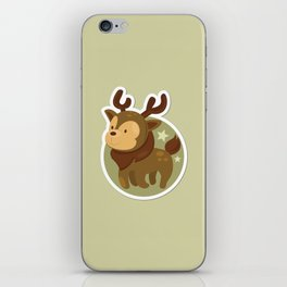 Deer Xmas Icon iPhone Skin