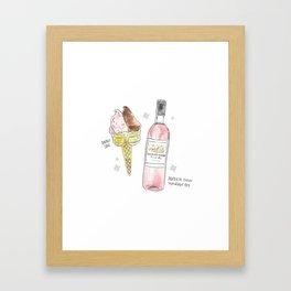 Double Cone + Rosé Framed Art Print