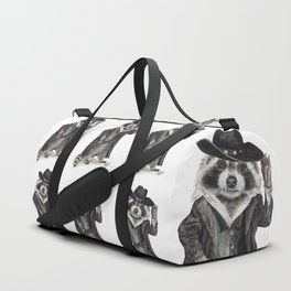 """ Raccoon Bandit "" funny western raccoon Duffle Bag"
