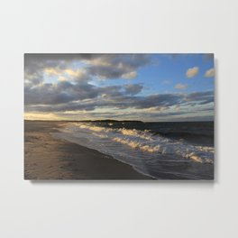 Evening Seascape Waves Metal Print