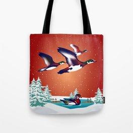 Take Flight to visit Friends Tote Bag