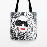 chic Tote Bags featuring CHIC by The Curly Whirl Girly.