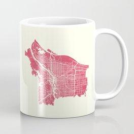 Portland City Map Coffee Mug