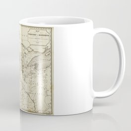 Territory of Minnesota Map (1849) Coffee Mug