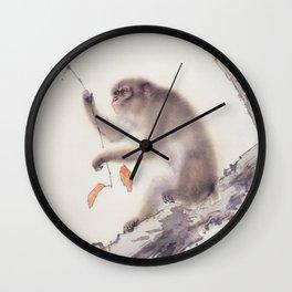 Monkey Vector After Hashimoto Kansetsu Wall Clock