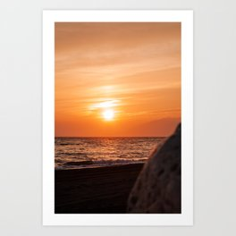 Sunset in Málaga, Spain Art Print