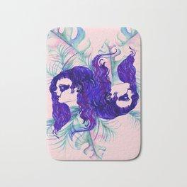 Stylized Gemini zodiac Bath Mat