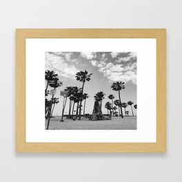 ~Palm trees on the beach~ Framed Art Print