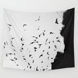 Black November Wall Tapestry