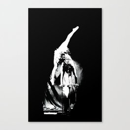 Beautiful Black&White Fashion Acrobatic Girl On Balance Circus Series Canvas Print