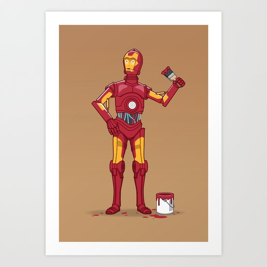 Iron Droid Art Print