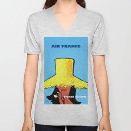 Vintage Air France Poster Unisex V-Neck