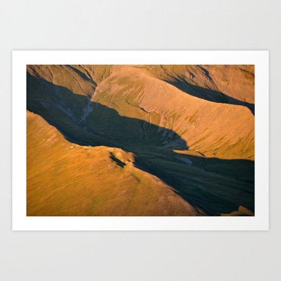 Ridges Art Print