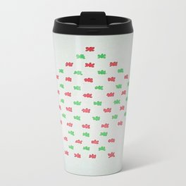 Christmas Tree in Red and Green Travel Mug