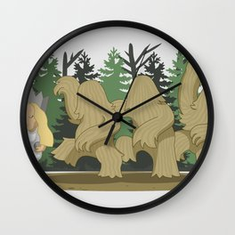 Where The Wild Clumps Are Wall Clock