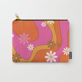 Groovy 60's and 70's Flower Power Pattern Carry-All Pouch