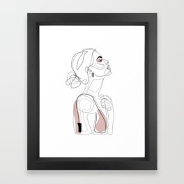 Blush Beauty Framed Art Print