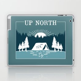UP NORTH, camping Laptop & iPad Skin
