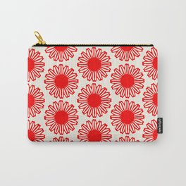 vintage flowers red Carry-All Pouch