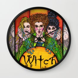 Witch Sisters Wall Clock