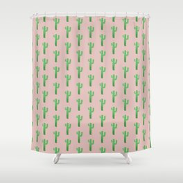 Blushing Cactus Shower Curtain