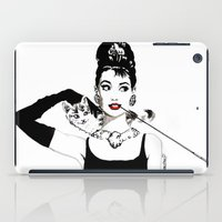 audrey iPad Cases featuring Audrey by Clementine Petrova