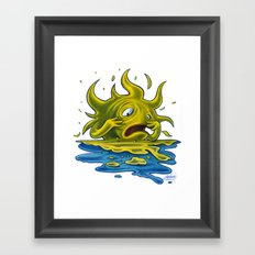 Scared Sunset Framed Art Print